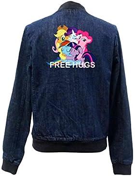 Free Hugs Pony Bomber Chaqueta Girls Jeans Certified Freak