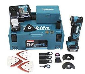 Makita TM30DSMJX5 Akku-Multifunktionswerkzeug 10,8 V/4,0 Ah, 2 Akkus, Ladegerät, Makpac inklusiv 41-teilig Zubehör-Set, 1 Stück