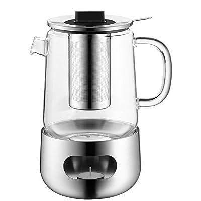 WMF Set à Thé 3Pièces Théière Passoire à thé Réchaud sensitea Verre Résistant à la chaleur plastique Passe au lave-vaisselle
