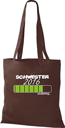 Pochette en tissu sœur 2016LOADING Sac en coton, Sac, Bandoulière, plusieurs couleurs Marron - Marron