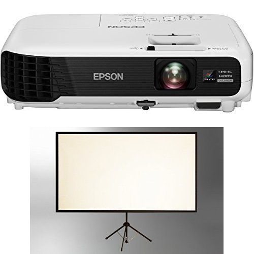 Epson EB-U04 Heimkino 3LCD-Projektor + celexon Beamer Leinwand weiß