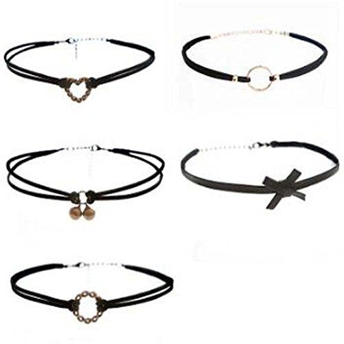 All-Purpose Style Fashion Necklace Choker 5 pcs Collar Girls Lady