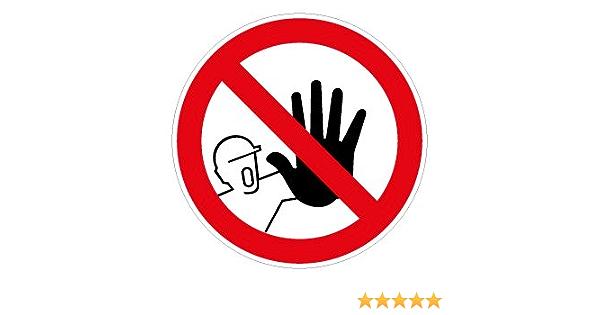 Stop Zutritt Für Unbefugte Verboten Aufkleber Vinylfolie 10 Cm Bei Günstiger Preis Kostenloser Versand Ab 29 Für Ausgewählte Artikel