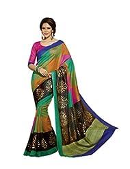 Bhavi Printed Cochin Silk Sari With Foil Print - B00W3O4UX4