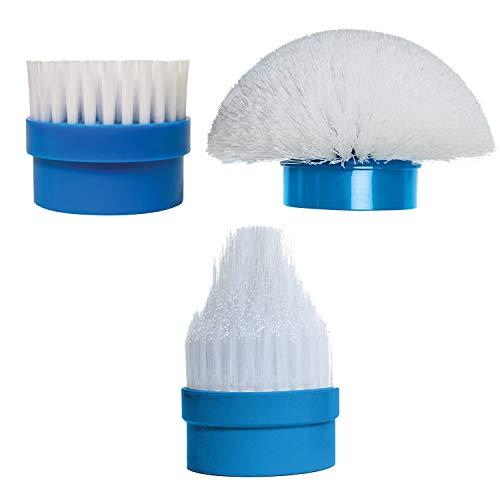 Actibrush-Lot de 3Ersatzbürsten-Ideal für gesäubert die Fliesen, Dichtungen, Duschen, Badewannen, Waschbecken, Schienen-Türen, Möbel Outdoor, Rollen, Boote, Fahrräder, etc.
