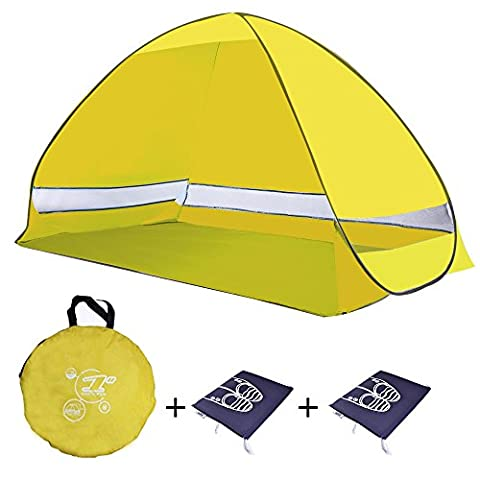 Beach Tent, Sun Shelter Automatic Pop Up Beach Cabana Quick Tent + Free WaterProof Shoe