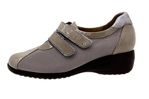 Scarpe donna comfort pelle Piesanto 8989 classiche basse soletta estraibile comfort larghezza speciale Visón