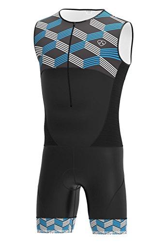 International Herren-Triathlon-Anzug mit Hera, für Schwimmen, Radfahren, Laufen SkinSuit XXL blau