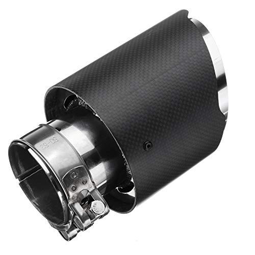 KKmoon Universal-Abflussrohr aus mattem Carbonfaser, Edelstahl, 63 mm