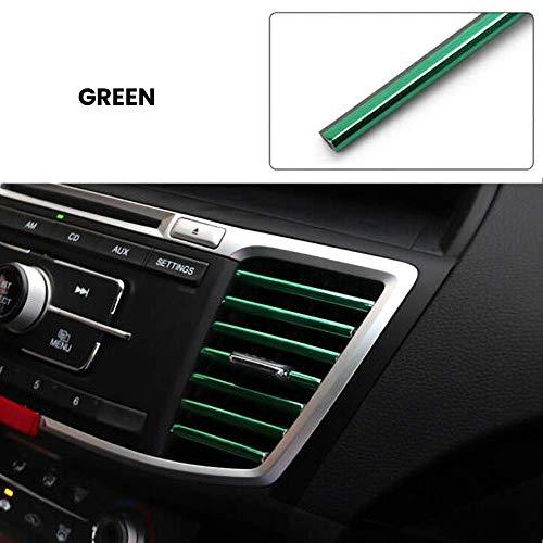 eujiancai 10 Pcs Car Auto Colorful Air Conditioner Air Outlet Decoration Strip Car Accessories (Green) -