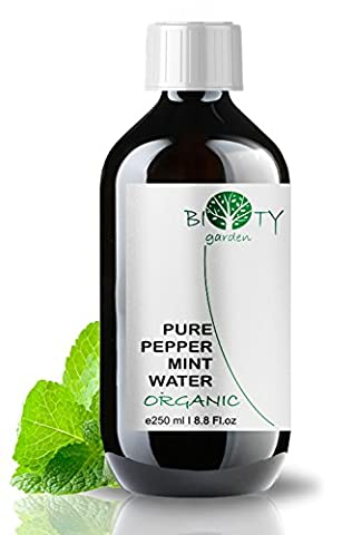 biOty garden Organic Peppermint Floral Water Hydrolat 100% Natural All Skin Type Hydrosol 250 ml - 8.8 Fl