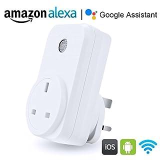 proxima1WLAN Smart Plug, Kompatibel mit Alexa und Google Assistent, keine Hub erforderlich, Kontrolle der Geräte von überall (UK-Stecker)