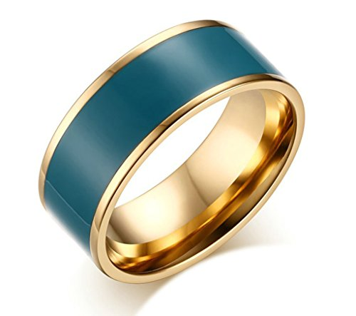 amdxd-jewelry-unisexs-stainless-steel-wedding-ring-width-8mm-enamel-design-size-r-1-2-blue