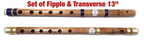 Anfänger bis zum professionellen indischen Bambus Flöte konzert natur Maßstab C 33cm indischen Bambus Bansuri vansali fipple und übergreifende Set