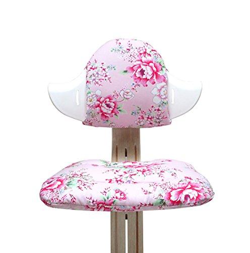 Blausberg Baby - Sitzkissen Set für Nomi Hochstuhl - Happy Flower Rosa
