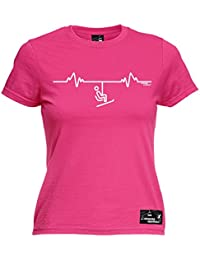 Powder Monkeez Premium Women s Ski Lift Pulse Ladies Fitted T-Shirt Tee  Fashion Funny Apres Ski Skiing Clothing Gift Presents Accessories for… f880ac7d1