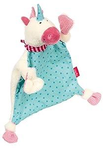 Sigikid 40594 - Manta para bebé, diseño de Conejo, Color Rosa Azul Einhorn Weiß/Blau