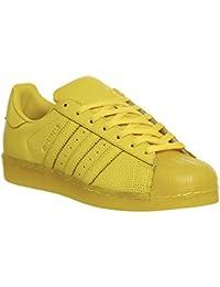 adidas Originals Superstar Adicolor para hombre de la zapatilla de deporte amarillo S80328
