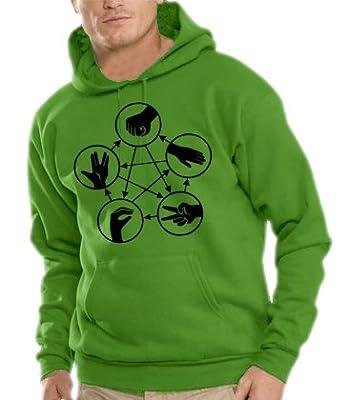 Big Bang Theory Sweatshirt à capuche Pierre papier ciseaux Différents coloris disponibles S-XXXL