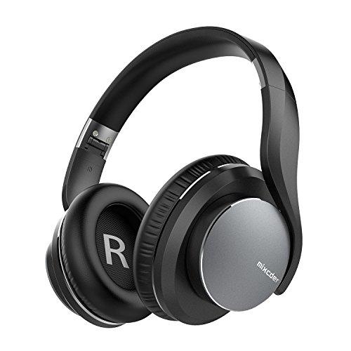 Advanced ShareMe Tech Auriculares, Mixcder Auriculares Over-ear Bluetooth con Micrófono Hi-Fi Deep Bass Cascos Estéreo Inalámbricos Sobre El Oído, Plegable y Cómodo, 18 Horas Playtime Para Viaje