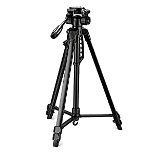 Digitek DTR 550LW Lightweight Tripod (Maximum Load up to 5 kg), 5.57 Feet Tall for Digital SLR & Video Cameras, Made Aluminium Material (DTR 550LW)
