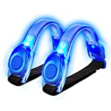 Tabiger LED Armband, 2-Pack Elastic LED Running Lights Safety Flashing Armbands Outdoor Sports Reflective Gear Bands for Adults Kids Night Runners Jogging Dog Walking etc.