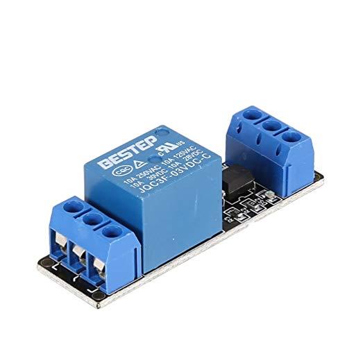 3V 1-Kanal-Relaismodul-Schnittstellenkarte Low-Trigger-Optokoppler für Arduino SCM-SPS-Smart-Home-Fernsteuerungsschalter - Blau & Schwarz