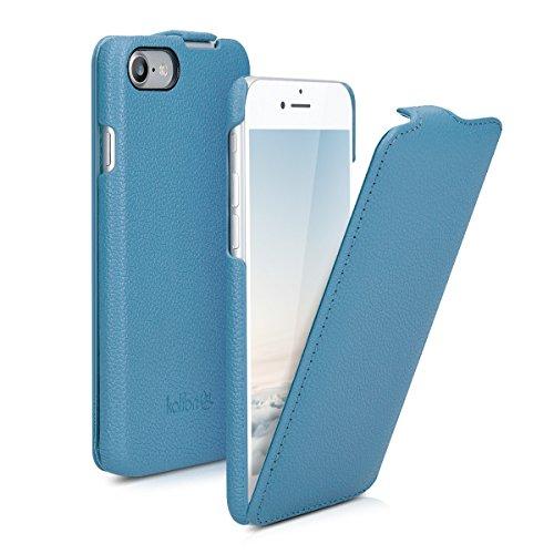 kalibri-Flip-Hlle-Ultra-Slim-Tasche-fr-Apple-iPhone-7-Leder-Schutzhlle-Case-in-Blau
