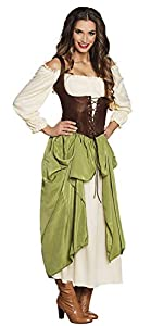 Boland Disfraz Adulto, Color Marrón, Verde, Blanco, 83783