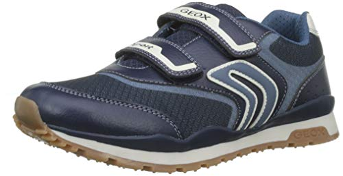 Geox Jungen J Pavel a Sneaker, Blau (Navy/Avio C0700), 33 EU