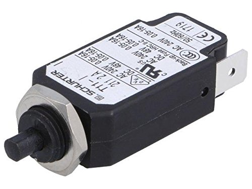 T11-211-2A Circuit breaker Urated240VAC 48VDC 2A Contacts SPST 10g SCHURTER (Breaker Circuit Voltage)