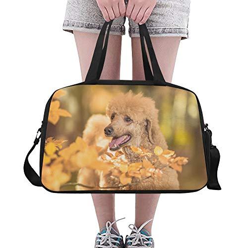 Zemivs Herbst Golden Dog Animal Große Yoga Gym Totes Fitness Handtaschen Reise Seesäcke Schultergurt Schuhbeutel Für Übung Sport Gepäck Für Mädchen Männer Frauen Outdoor - Coach Große Hobo