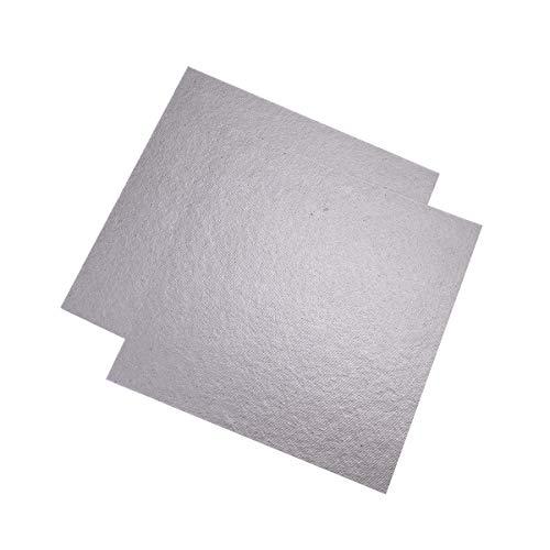 OUNONA Glimmerscheibe für Mikrowellen Reparatur Teil Blätter Größe 5,1 x 5,1 Zoll 2 Stücke