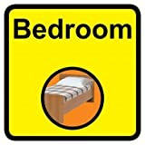Square Bedroom Dementia Sign - 300 x 300mm