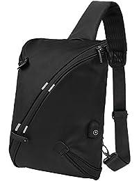 Laptop Backpack, Beyle Travel Computer Bag for Women & Men, Anti Theft Water-Resistent College School Bookbag, Slim Business Backpack USB Charging Port Fits Under 15.6 inch Laptop and Notebook, Black