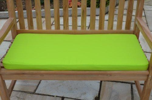 2-Sitzer, 1,1 m/0.91 meters Gartenbank-Auflage NUR Sitzkissen, apfelgrün