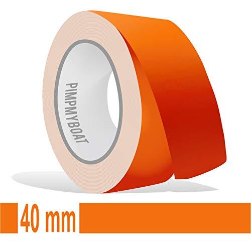 Siviwonder Zierstreifen orange matt in 40 mm Breite und 10 m Länge für Auto Boot Jetski Modellbau Klebeband Dekorstreifen -
