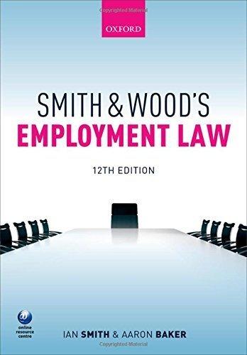 Smith & Wood's Employment Law by Ian Smith (2015-11-03)