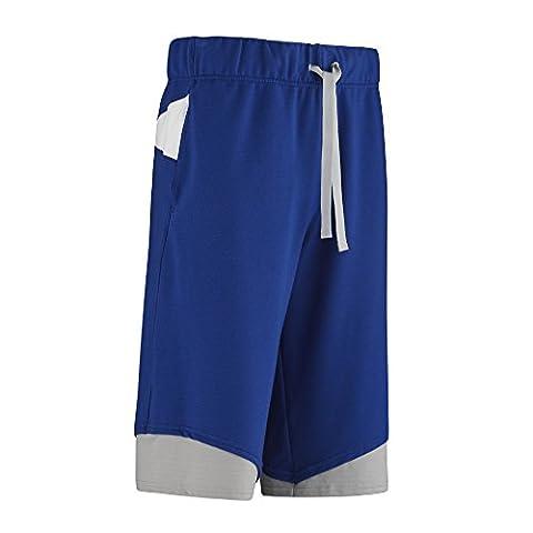 Zumba Men's short en maille avec moi Bleu Surfs-Up Blue XS