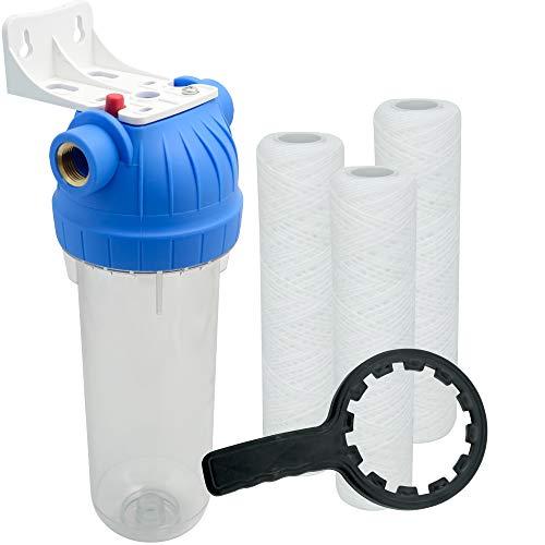 """Wasserfilter 10 Zoll Anschluss 1\"""" Nachfilter für Hauswasserwerk GartenPumpe Wasserleitung"""