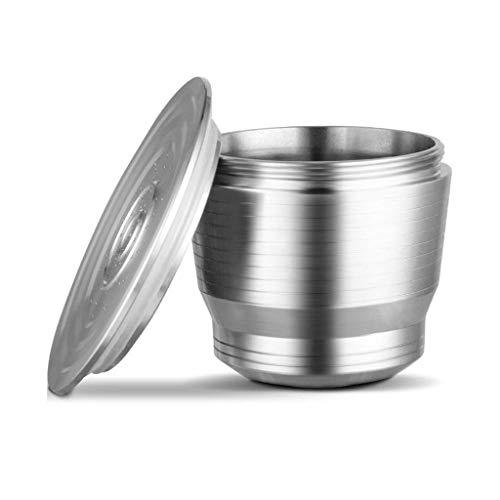 Kaffeemaschinenzubehör,TwoCC Wiederverwendbare wiederaufladbare Kaffeekapsel, Edelstahl-Metallkaffeekapsel