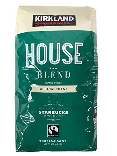 Kirkland Signature House Blend von Starbucks Coffee Co. 907g Packung geröstete (Kirkland Blätter)
