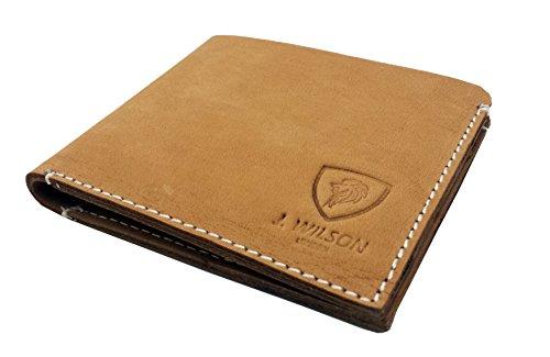 Designer J WILSON Portefeuille de carte de crédit en cuir véritable en cuir londres de Londres Bifold Slim