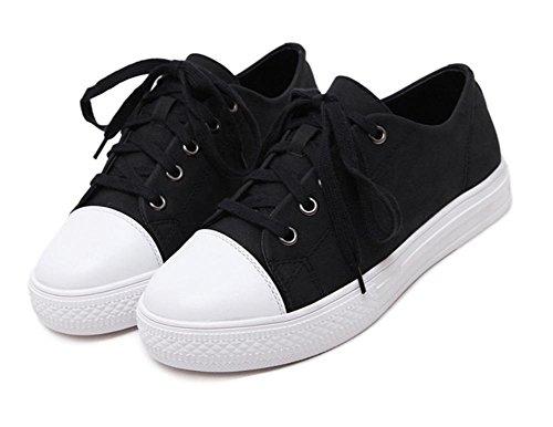scarpe a fondo tondo di sport per il tempo libero scarpe da ginnastica pizzo scarpe scarpe ascensore studente Autunno Ms. Black