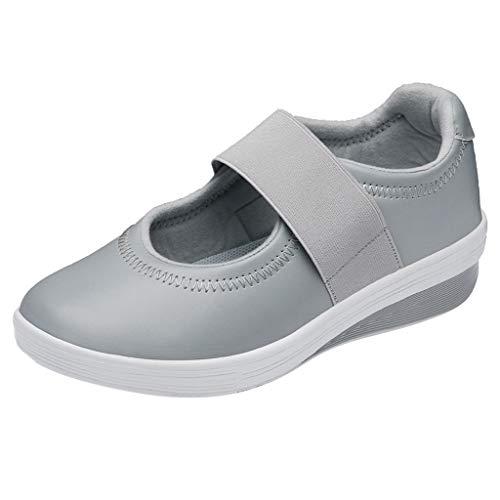 friendGG❤Sommer Dickbesohlte Damenschuhe Atmungsaktive Mutter Lazy Shoes Casual Sneakers Flache Schuhe Stoffschuhe Schuhe Freizeitschuhe Bootsschuhe Sportschuhe Outdoorschuhe Turnschuhe Halbschuhe