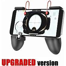 Mobile Game Controller [Upgrade Version Bundle] -Lokezeep Fortnite PUBG Mobile Controller With Gaming Trigger,Ergonomic Design Gaming Grip And Gaming Joysticks For Android IOS Phones (Black)
