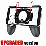 #8: Mobile Game Controller Triggers Gamepad - KACOOL 3-in-1 Shoot Aim Move Buttons PUBG Fortnite Mobile Controller with Gaming Trigger, Ergonomic Design Gaming Grip and Gaming Joysticks for Android iOS Phones - [Upgrade Version Bundle]