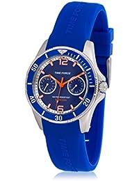 TIME FORCE TF-4110B03 Reloj para Chico, con Calendario, Azul Oscuro