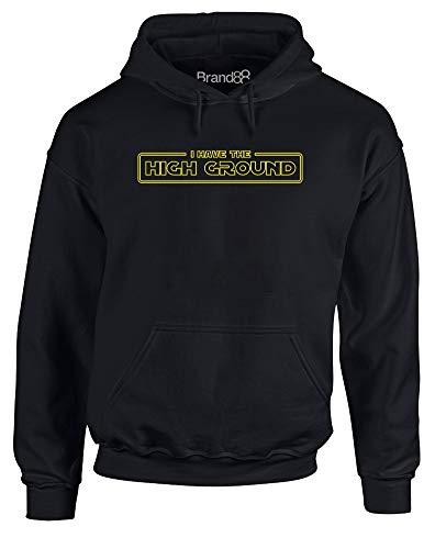 Brand88 I Have The High Ground, Hoody - Pullover - Schwarz/Gelb XL = 116-121cm