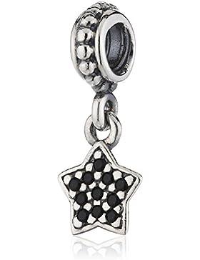 Pandora Damen-Charm 925 Sterling Silber Zirkonia schwarz 791024NCK